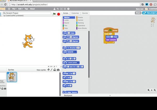 Scratch editor image