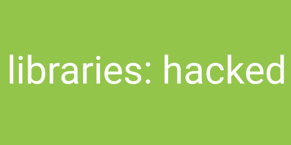 Libraries Hacked logo